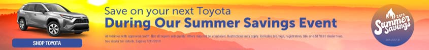 Save on your next Toyota during our Summer savings event - Shop Toyota