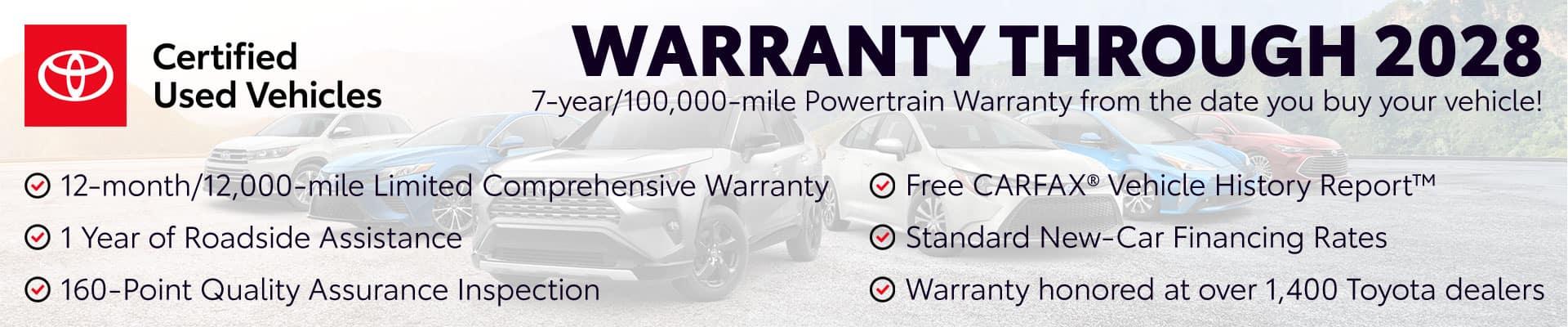CPO Warranty through 2028