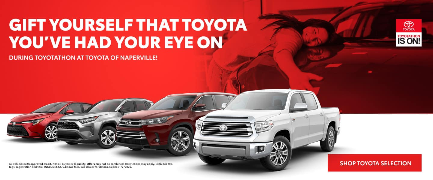 Gift yourself the Toyota you've had your eye on during Toyotathon - Shop Toyota Selection