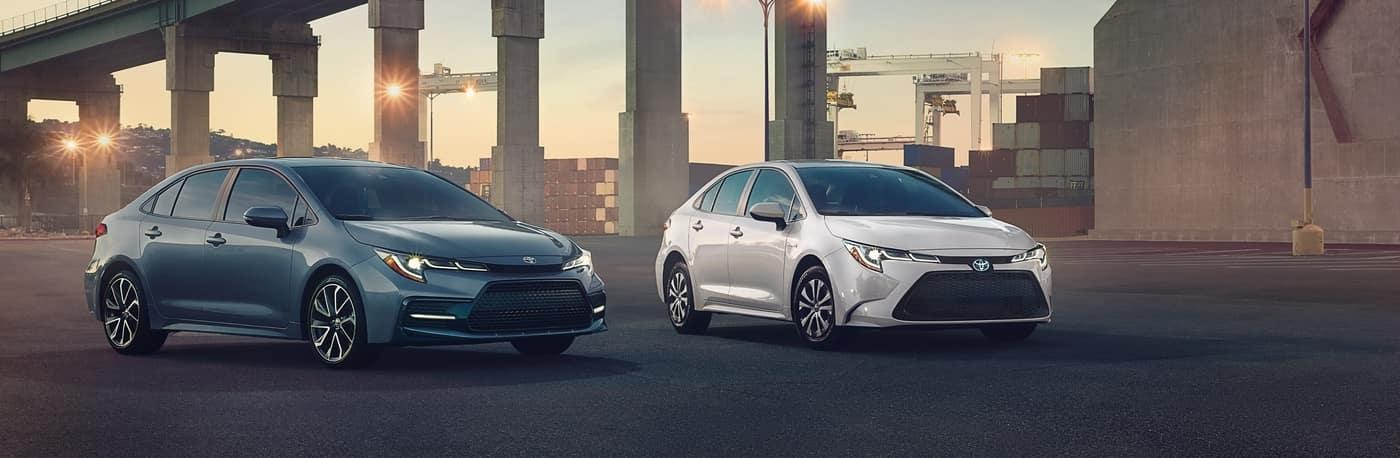 2 2020 Toyota Corollas
