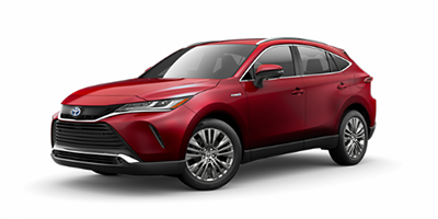 2021 Toyota Venza XLE in red.