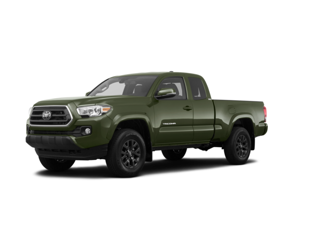 2021 Toyota Tacoma SR5 in forest green color.