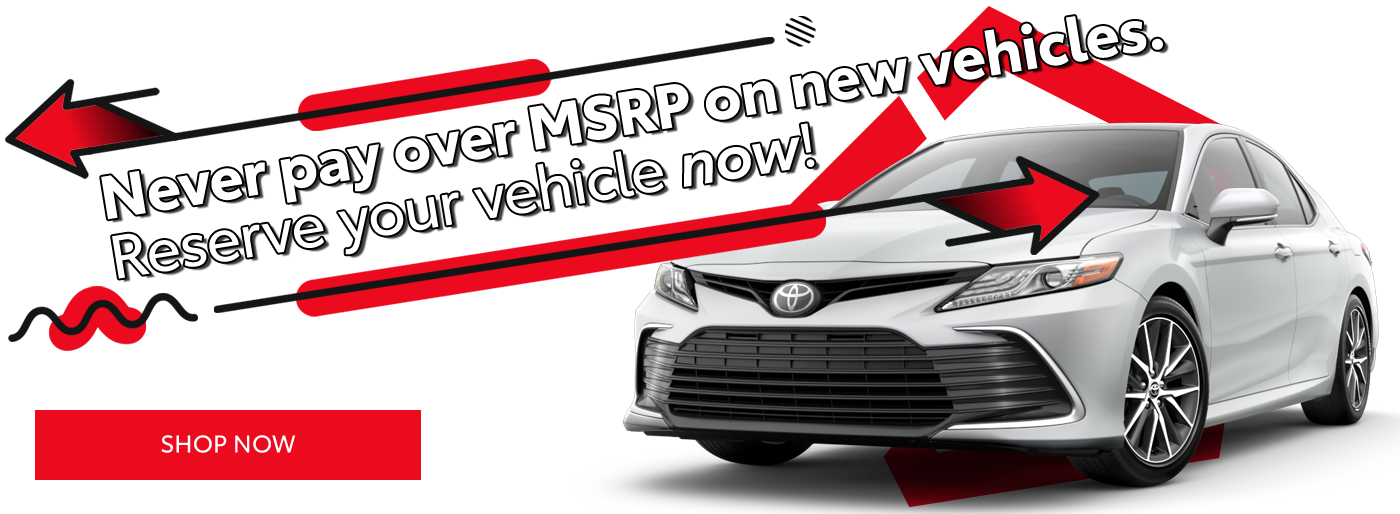 Never pay over MSRP on new vehicles!