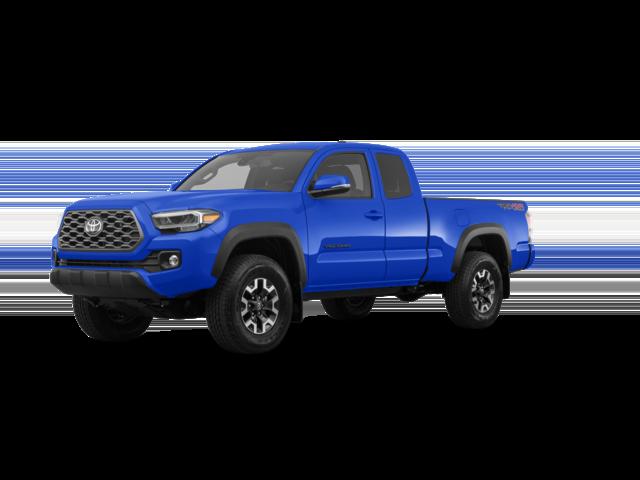 2021 blue Toyota Tacoma TRD Off-Road.