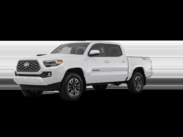 2021 white Toyota Tacoma TRD Sport.