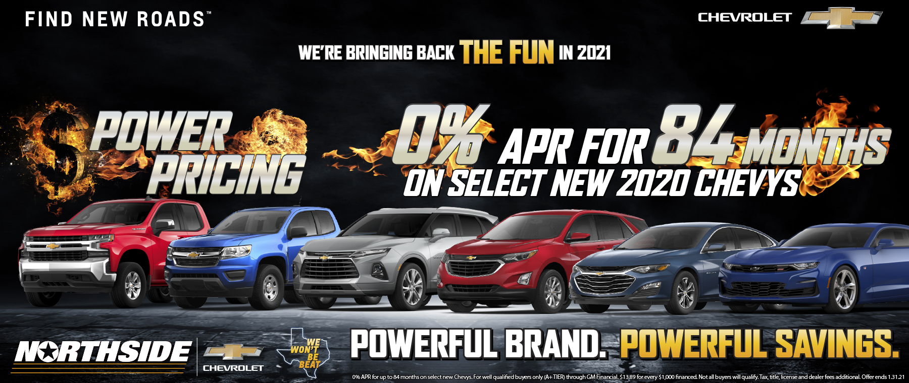2021 Chevy Power Pricing