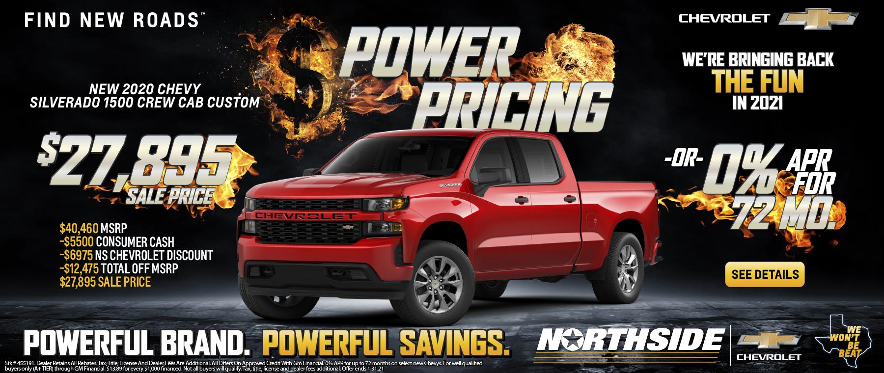 NS Chevy Silverado Power Pricing