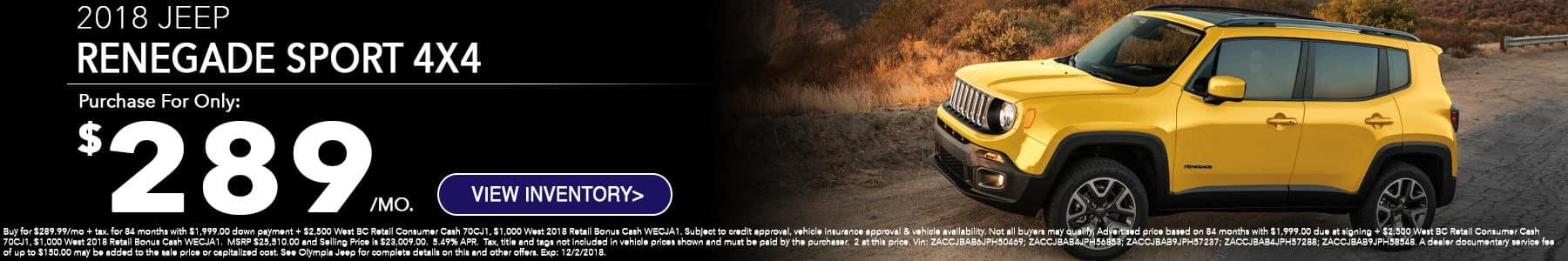 Jeep Renegade November Special