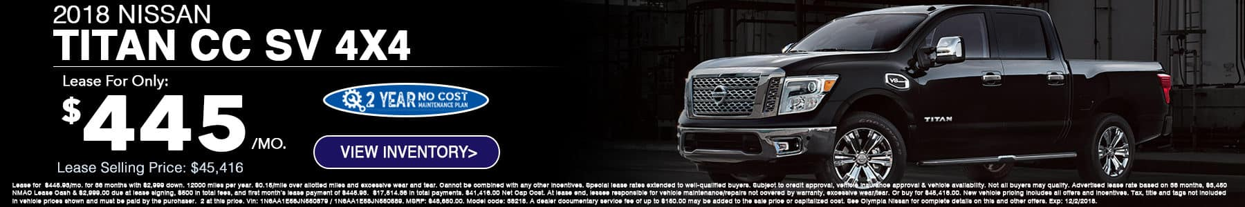 Nissan Titan Special at Olympia Nissan