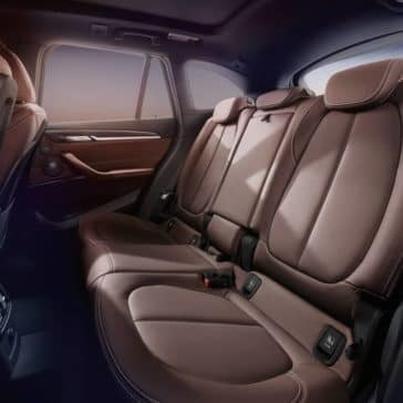 2018 BMW X1 rear leather seats