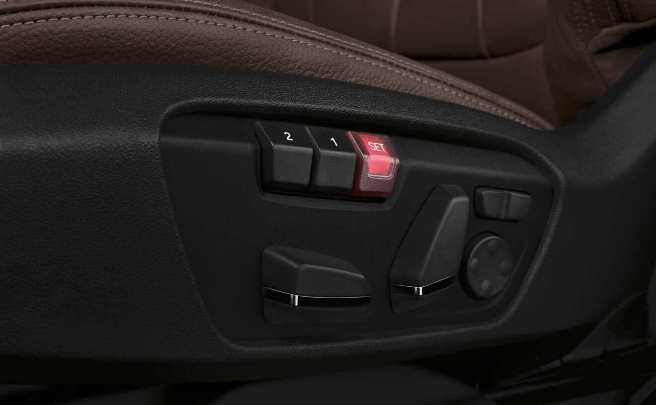2018 BMW X1 adjustable seat buttons