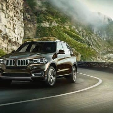 2018 BMW X5 on winding road