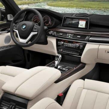 2018 BMW X5 interior cabin and dashboard