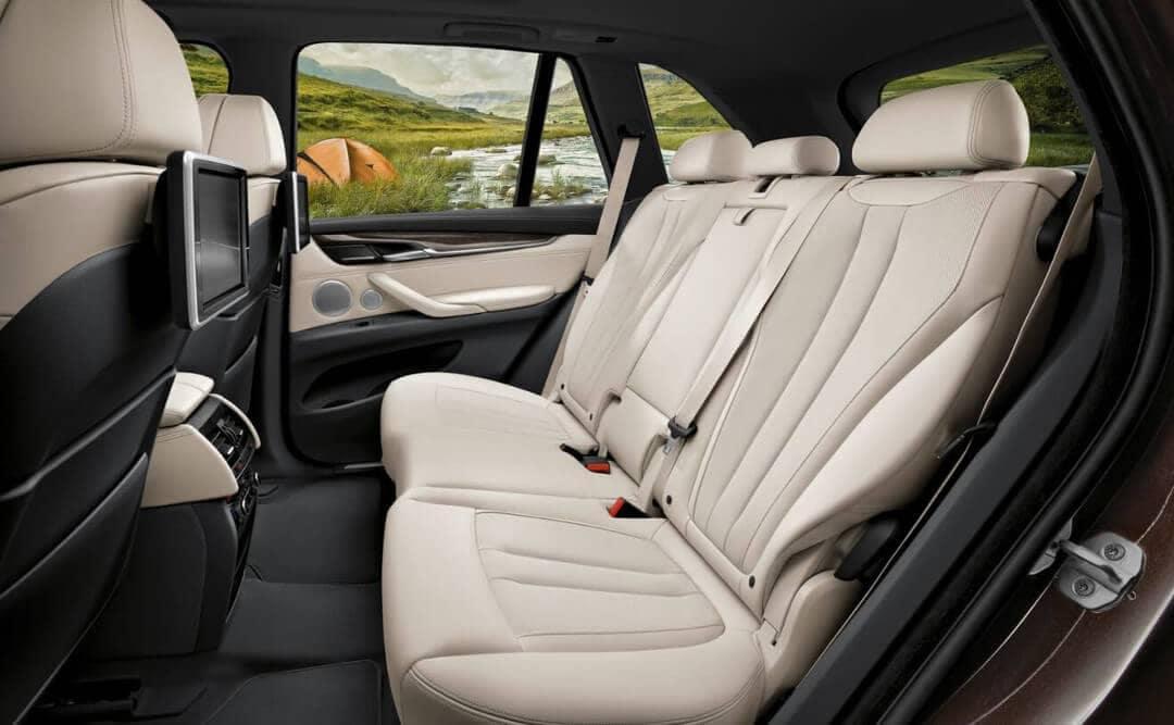 2018 BMW X5 leather rear seats