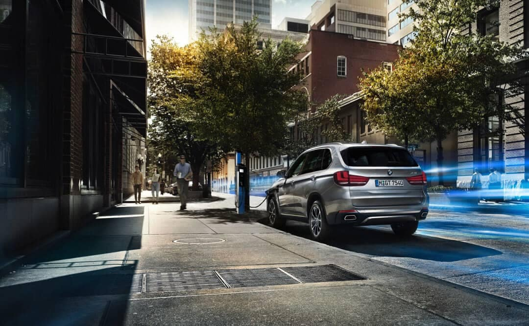 2018 BMW X5 parked on street