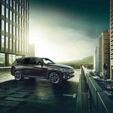 2018 BMW X5 parked on rooftop garage