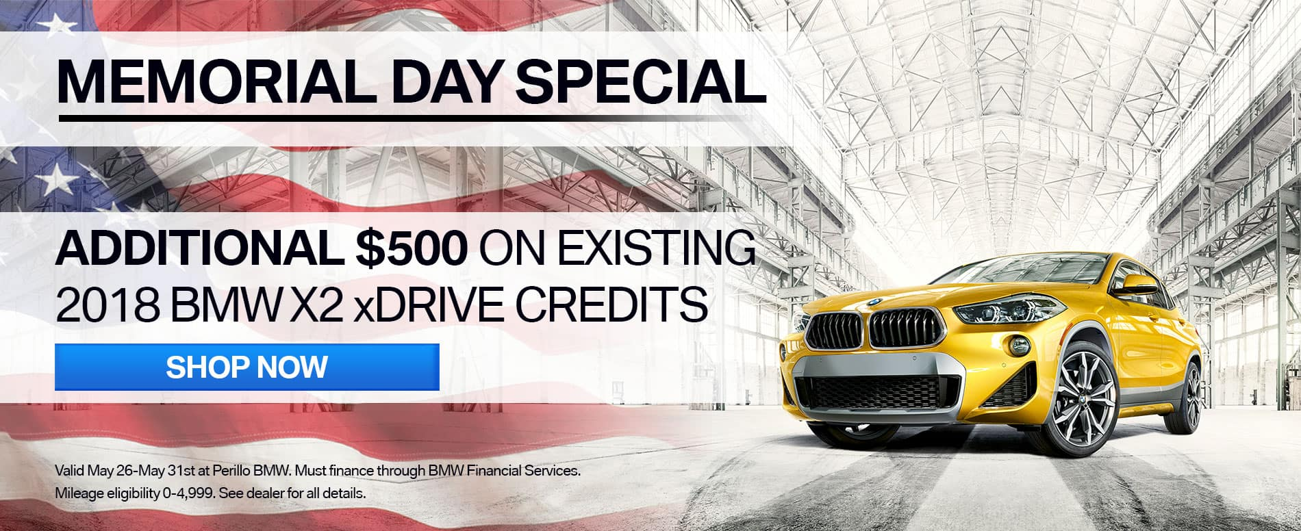 Memorial Day Offer at Perillo BMW Chicago