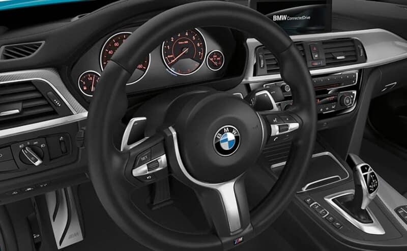 BMW Logo on steering wheel