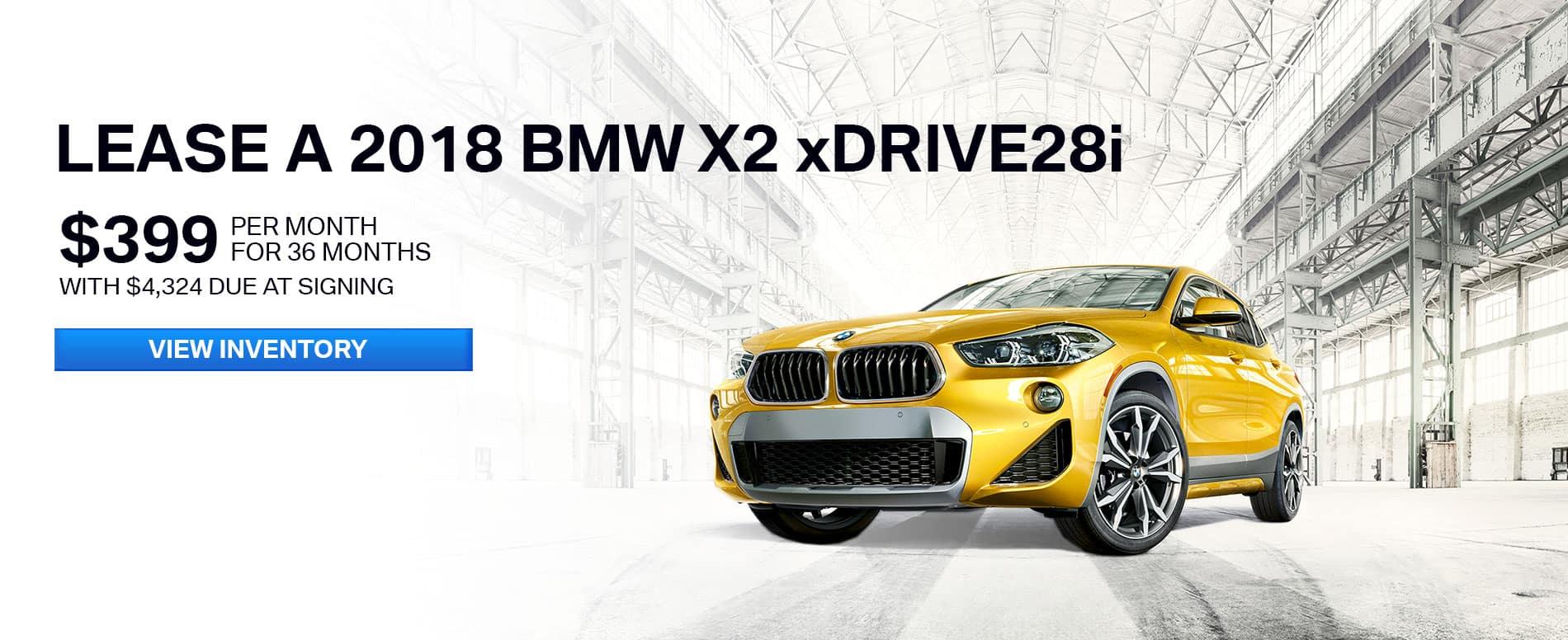 BMW X2 Offer June 2018