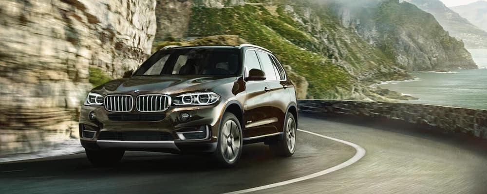 BMW X5 Driving on a Curve