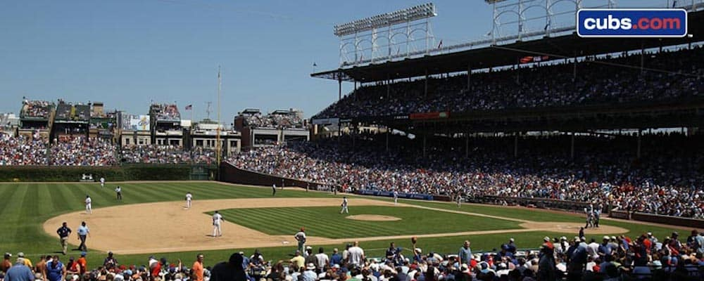Wrigley Field during a baseball game