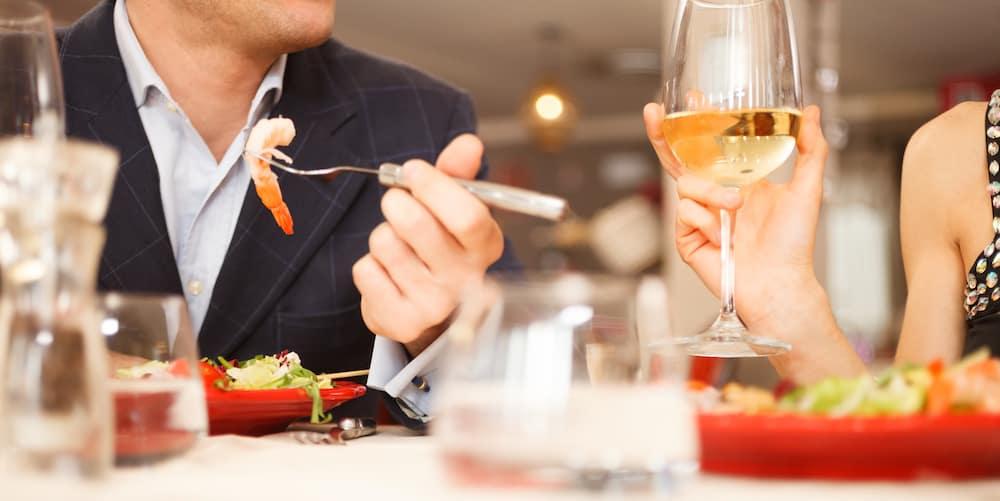 Couple at Romantic Dinner