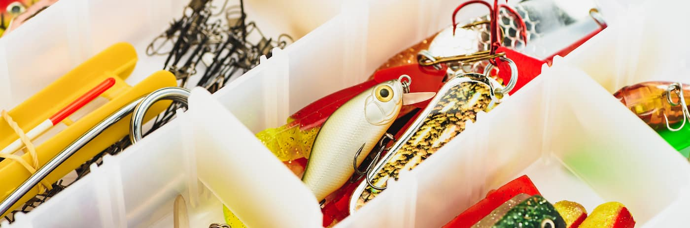 Fishing Lures in a Tackle Box