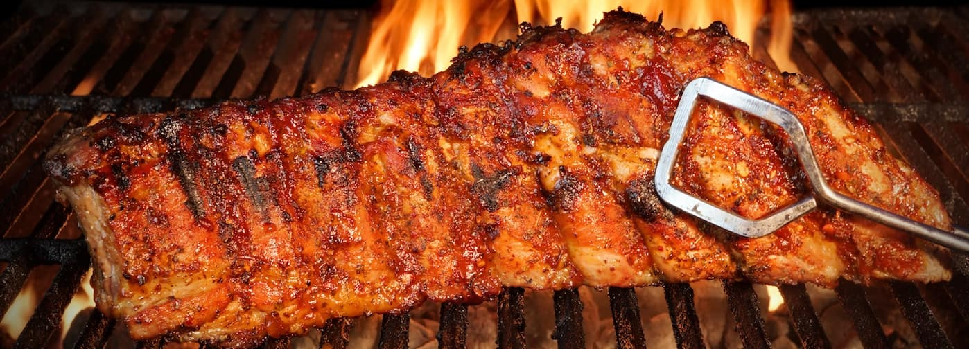 Rack of BBQ Ribs in Chicago