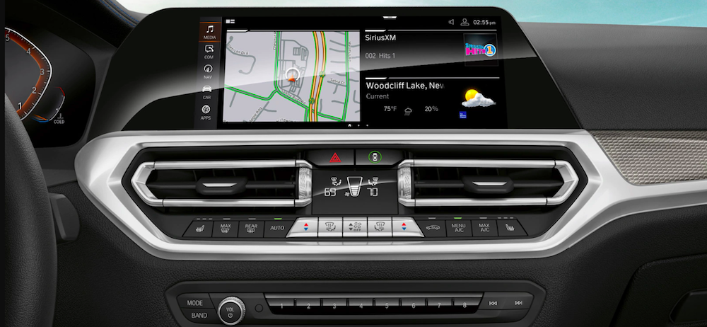 Touchscreen display in a new 2020 BMW 3 Series
