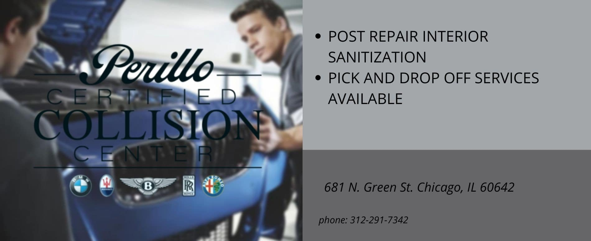POST REPAIR INTERIOR SANITIZATION AND PICK AND DROP OFF SERVICES AVAILABLE