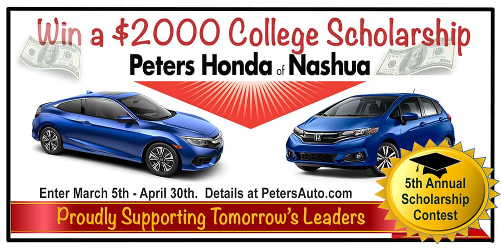 Scholarship contest peters honda of nashua for Honda motor finance payoff phone number