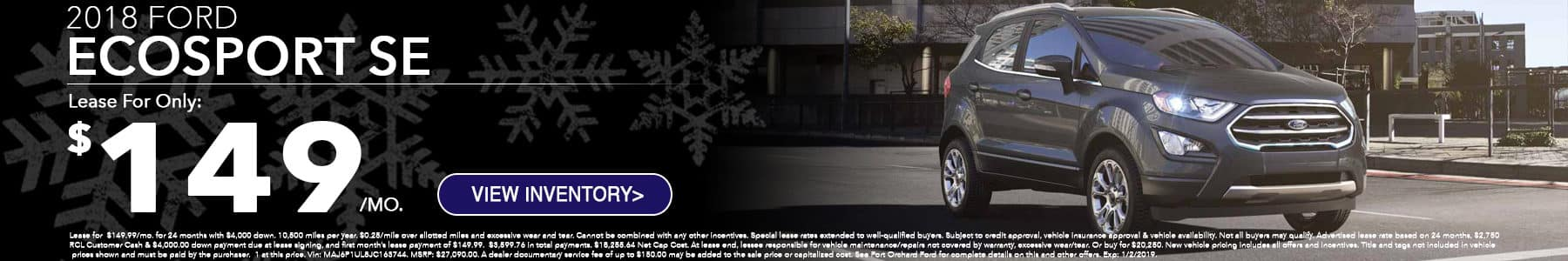 Ford Ecosport December Special