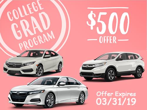 $500 Honda College Grad Program