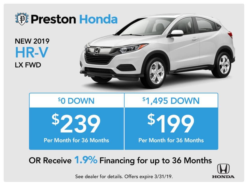 New 2019 Honda HR-V
