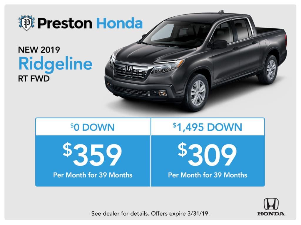 New 2019 Honda Ridgeline RT