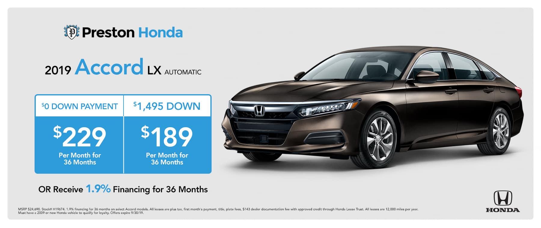 Honda Finance Specials >> Preston Honda In New Castle Pa New Used Cars