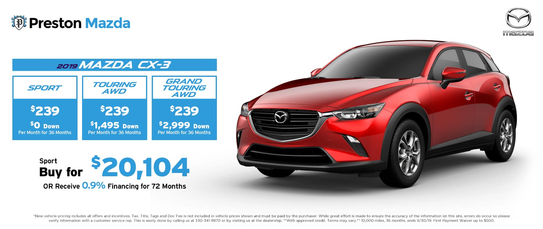 September special on the Mazda CX-3