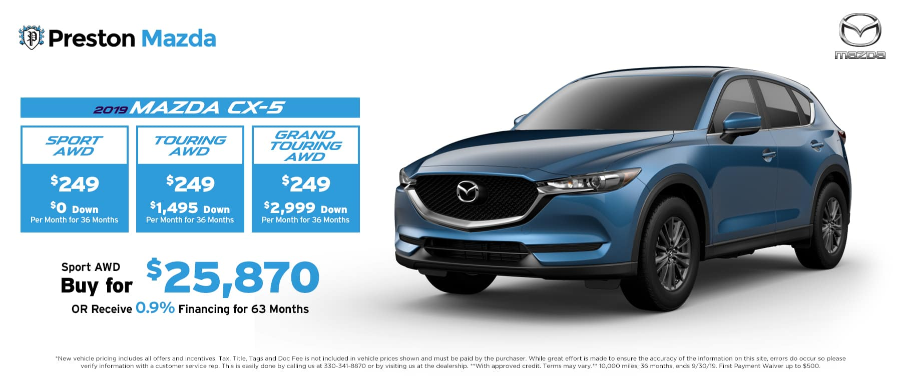 September special on the 2019 Mazda CX-5