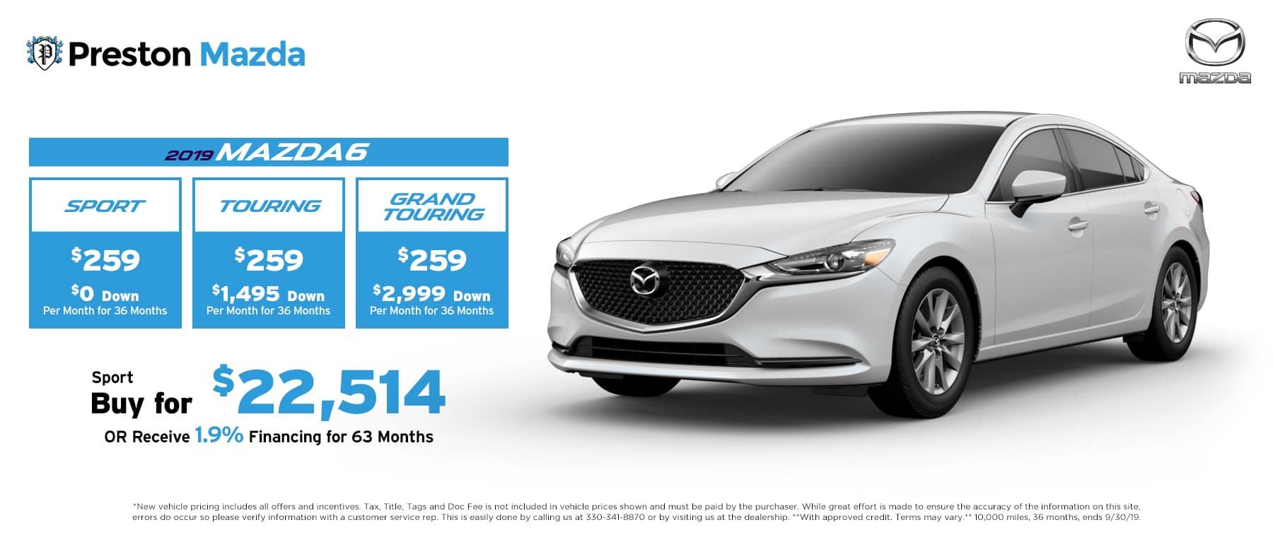 September special on the 2019 Mazda6