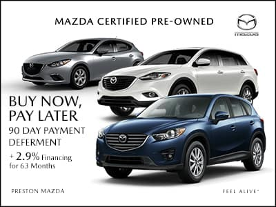 Get 2.9% financing for up to 63 months on Certified Pre-Owned Vehicles