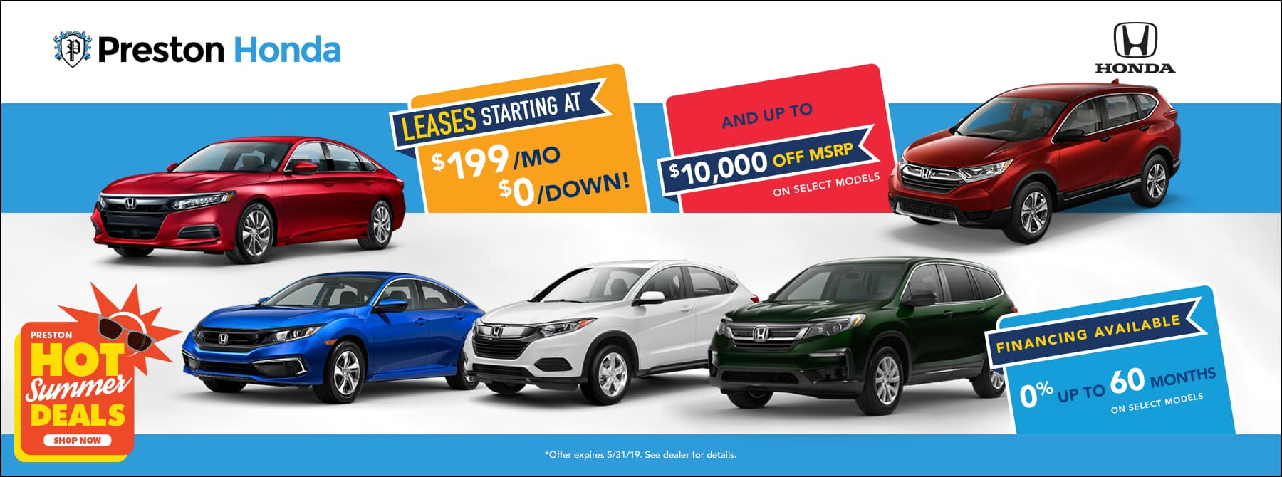 May special on Honda inventory