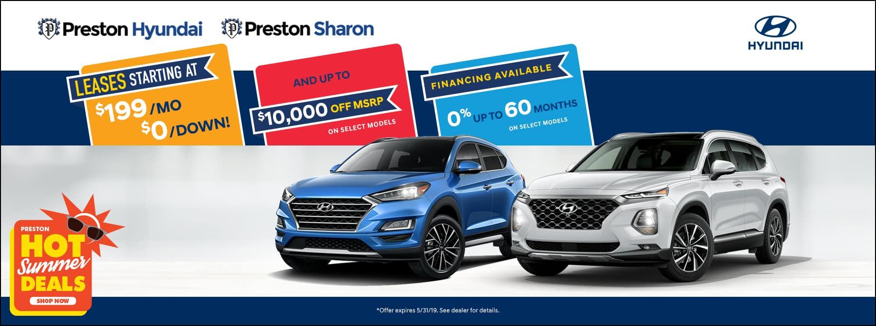 May specials on Hyundai Inventory