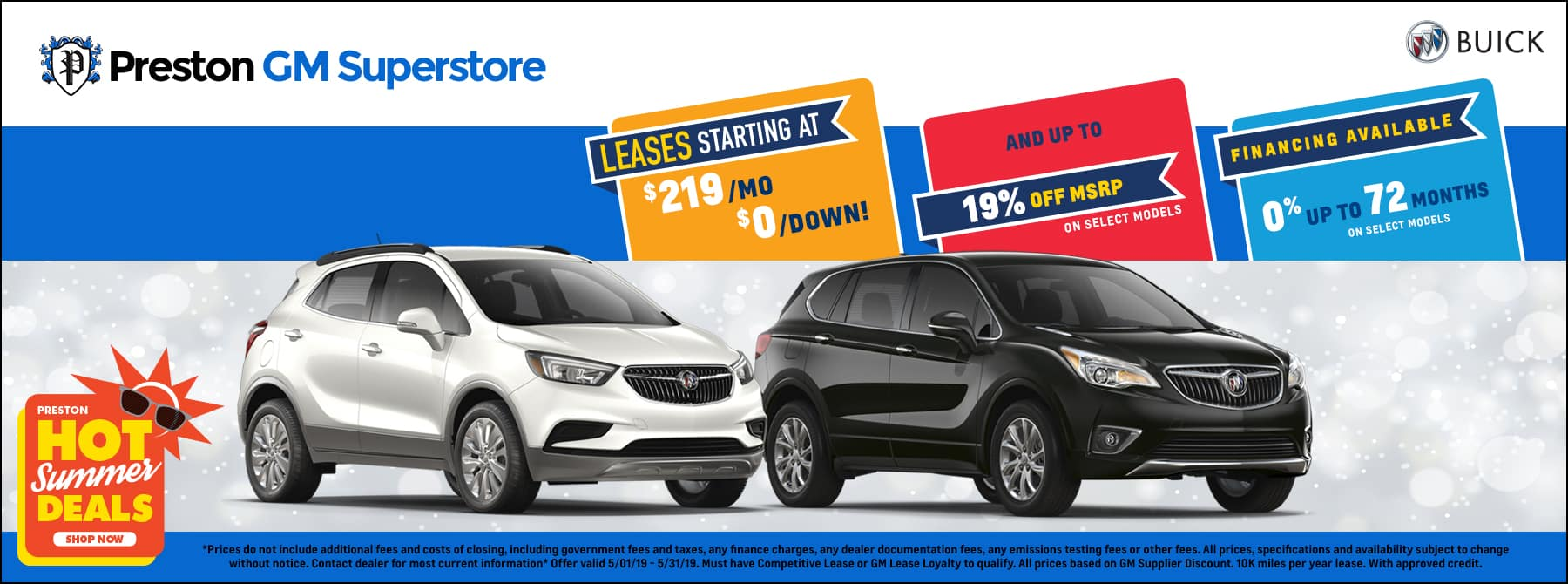 May specials on Buick inventory