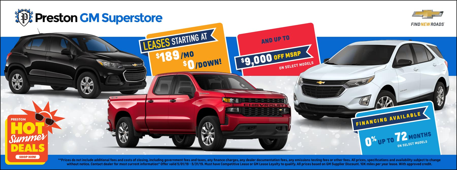 May special on Chevrolet Inventory