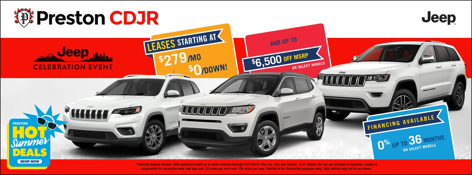 May special on CDJR inventory