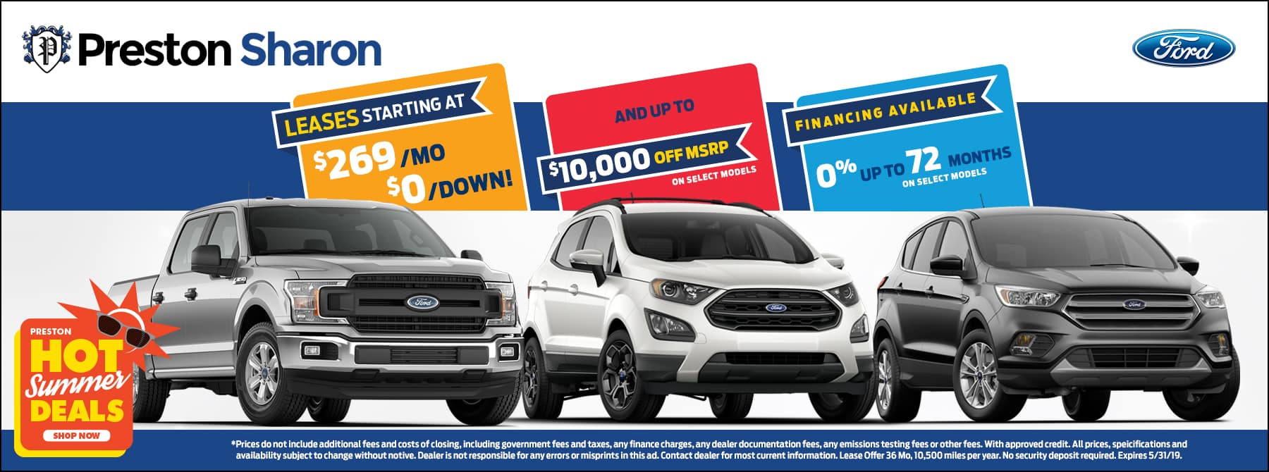 May special on Ford inventory