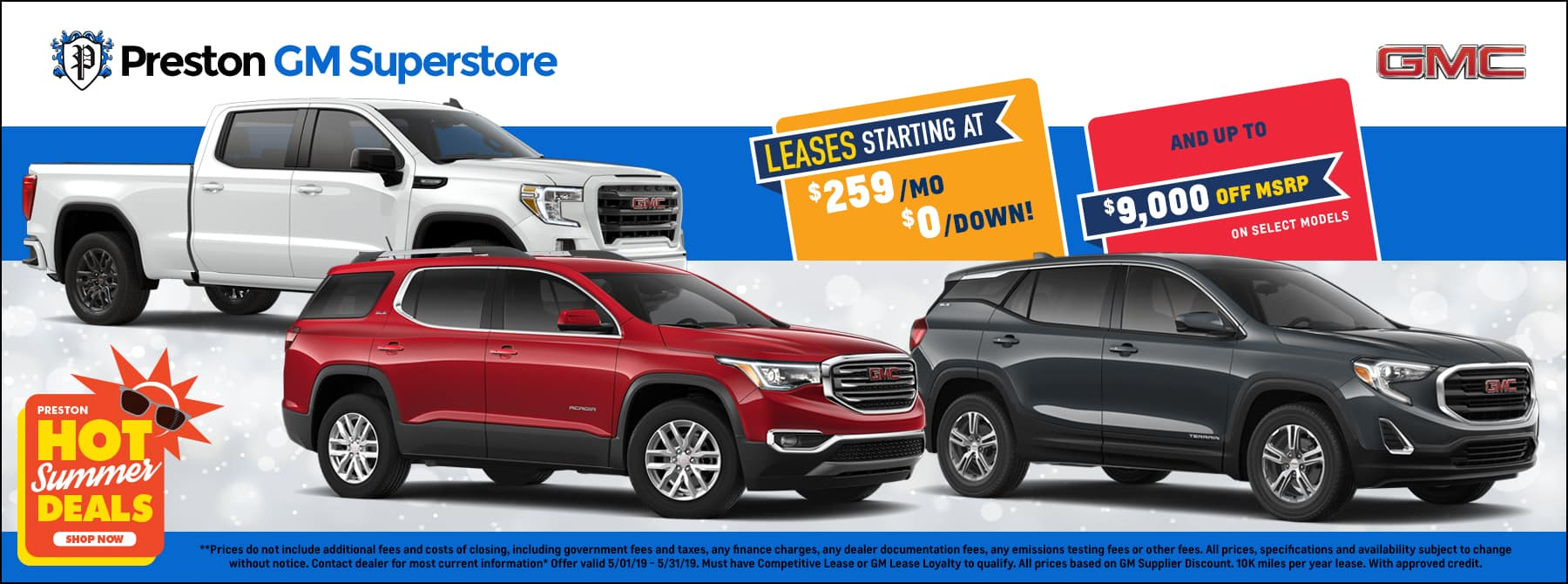 May special on GMC inventory