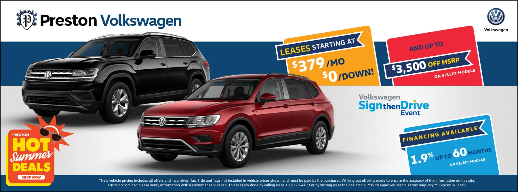 May special on Volkswagen inventory