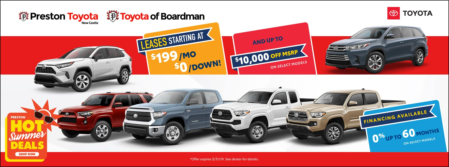 May special on Toyota Inventory