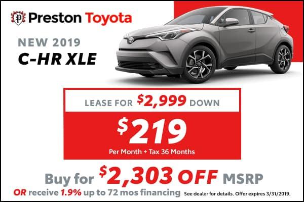 2019 Toyota CH-R XLE
